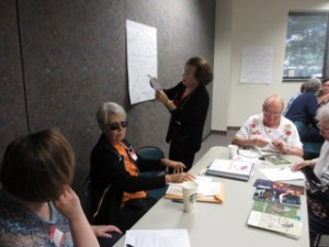 Working at the Planning Session in August 2013