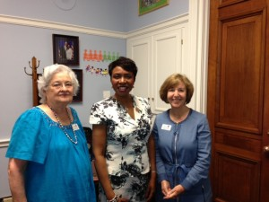 Maureen Dwyer (R) and Yvette Clarke (D-NY) who will vote no on Smarter Solutions for  Students Act HR -1911.